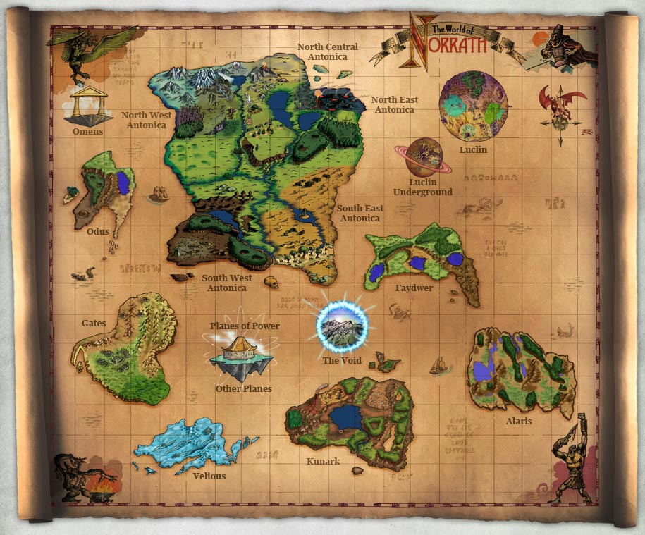 World Map of Norrath